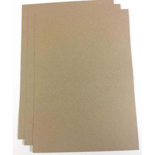 350gsm A3 Eco Friendly Brown Natural Kraft Card.