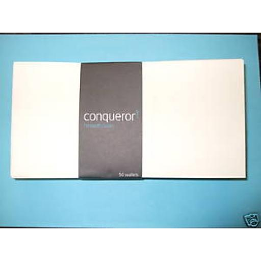Conqueror Brilliant White Laid (Texture) DL Envelopes