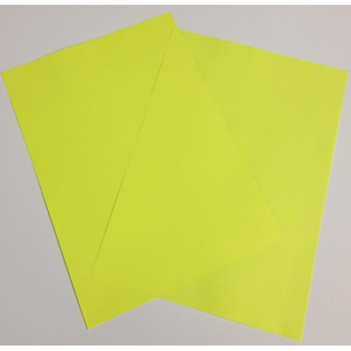 A4 Fluorescent Yellow paper