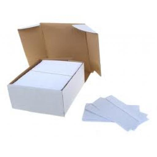 1000 x 90gsm White Window D/L Envelopes (110mm x 220mm)
