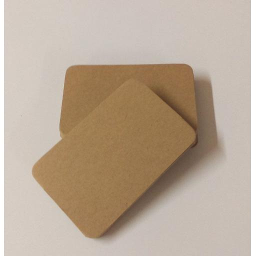 Round Cornered Brown Kraft Card Blanks, Save The Date Card Blanks