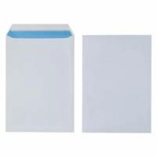 250 x 100gsm White With Window C4 Envelopes (324mm x 229mm)
