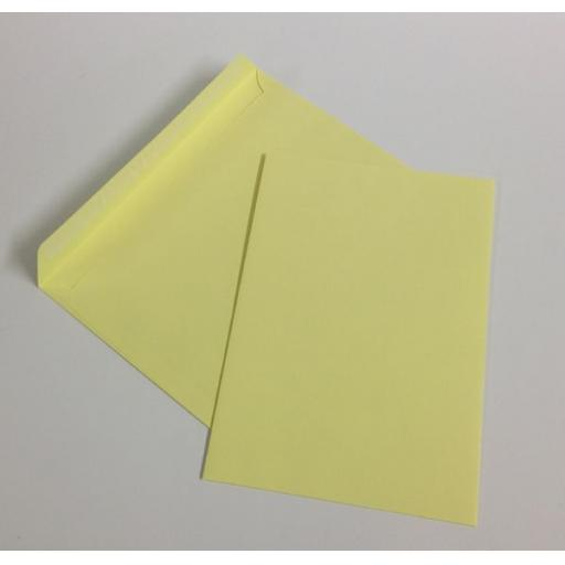 120gsm Pastel Yellow C5 Envelopes