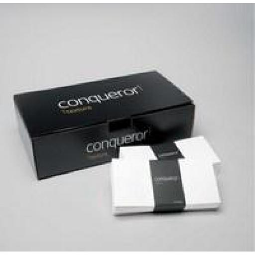 C6 Conqueror Brilliant White Laid (textured) Envelopes