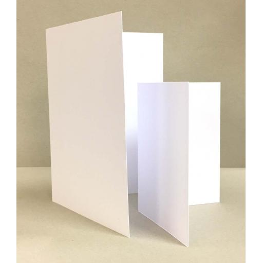 500gsm A5 Folding To A6 White Card Blanks with C6 Envelopes