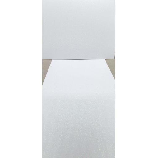 A7 Crystal White Glitter Card Glitter Card - Printable Glitter Card