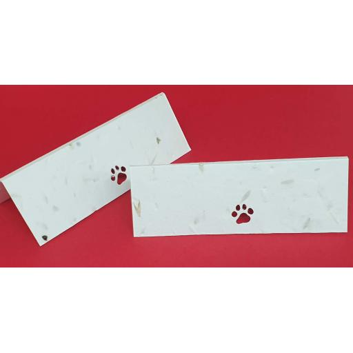 Paw Print Die Cut Seeded Plantable Table Place Name Cards