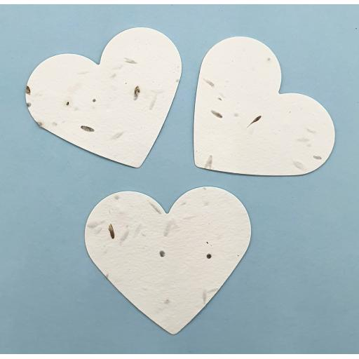 Plantable Seeded Die Cut Hearts, Wedding Favours, Funeral Favours