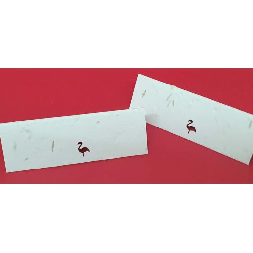 Flamingo Die Cut Seeded Plantable Table Place Name Cards
