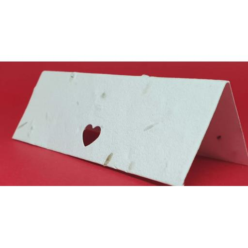 Love Heart Die Cut Seeded Plantable Table Place Name Cards