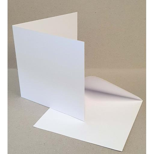 148mm x 148mm 500gsm White Pre Scored Card Blanks and Envelopes