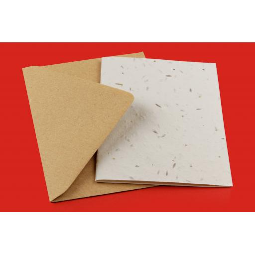 A5 folding to A6 Plantable Greetings Card Blank