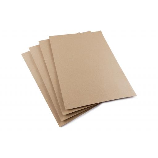 225gsm A6 Eco Friendly Brown Natural Kraft Card.